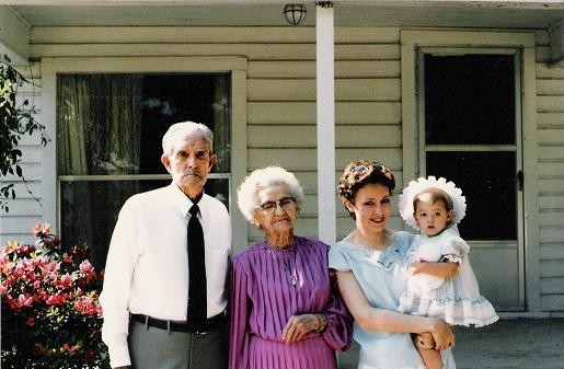 great-grandparents, mom, me
